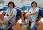 Hạ bậc thi đua nữ tiến sĩ BV Mắt gác chân lên ghế
