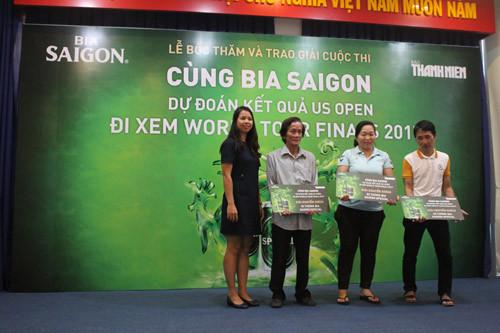 Bia Sài Gòn trao 2 vé đi Anh xem World Tour Finals