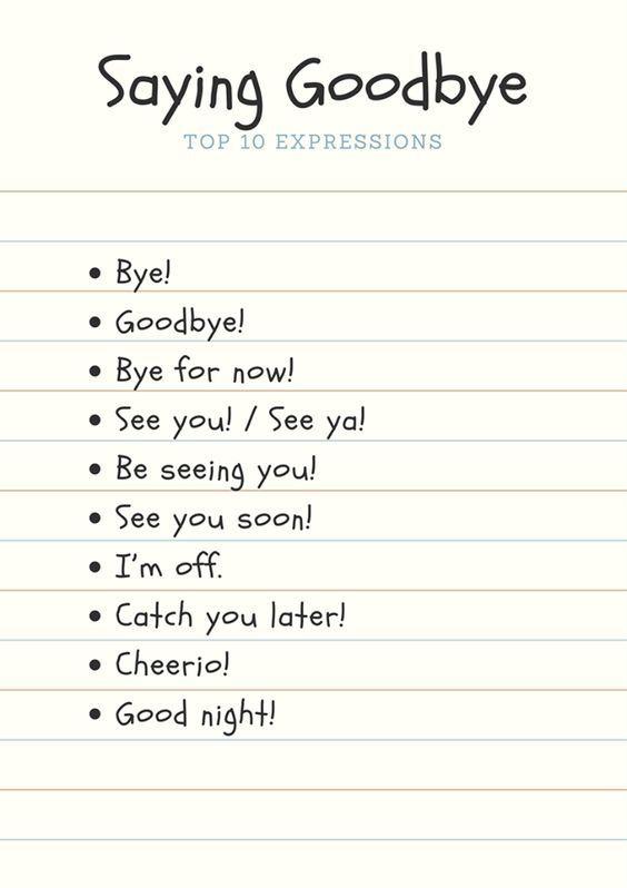 10 cách nói lời chào tạm biệt trong tiếng Anh