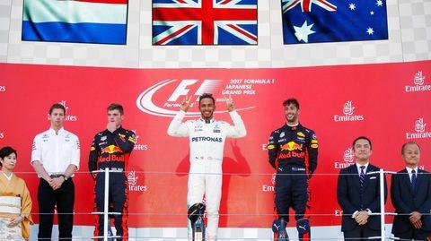 Hamilton lên ngôi nghẹt thở chặng F1 Nhật Bản GP 2017