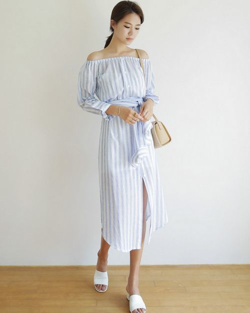 Thời trang nữ kiểu váy buộc nơ ngược sau ra trước đang gây sốt