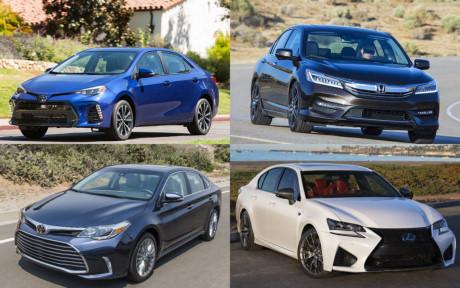 Những mẫu sedan được khách hàng tin dùng nhất hiện nay