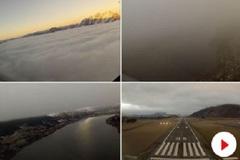 Phi công nhìn thấy gì khi máy bay rẽ mây hạ cánh?