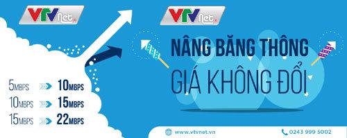Hà Nội: Lắp đặt VTVNET nâng băng thông, giá không đổi