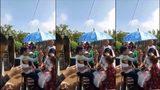 Đám cưới đáng nhớ với màn rước dâu bằng xe lôi