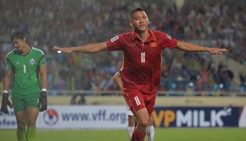 Việt Nam 3-0 Campuchia: Anh Đức ghi bàn