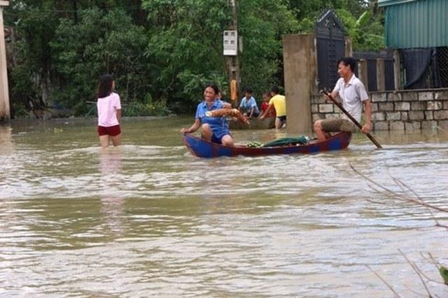 vỡ đê, xả lũ, hồ Yên Mỹ, Thanh Hóa, áp thấp nhiệt đới