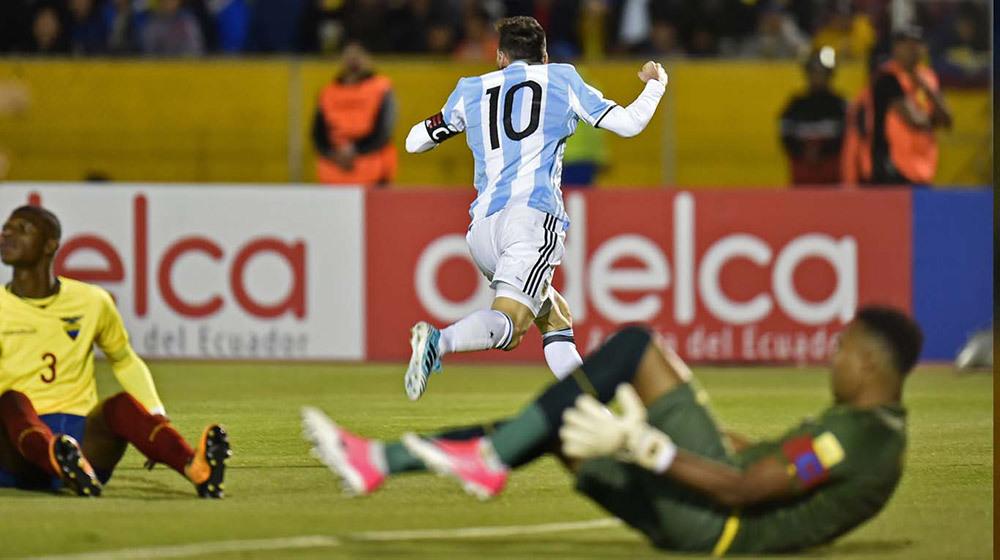 Messi,Argentina,Ecuador,World Cup 2018,vòng loại World Cup 2018