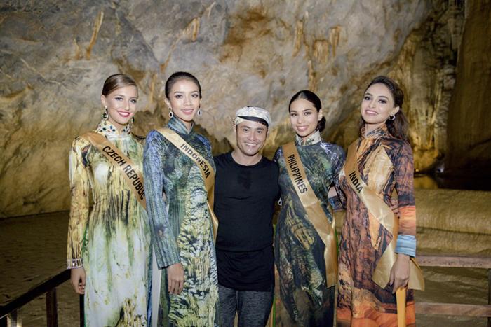 Top 20 Miss Grand tạo dáng với áo dài trong động Thiên Đường - ảnh 1