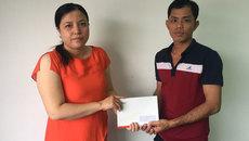 Trao hơn 20 triệu đồng cho bé Lê Hồ Anh Kiệt