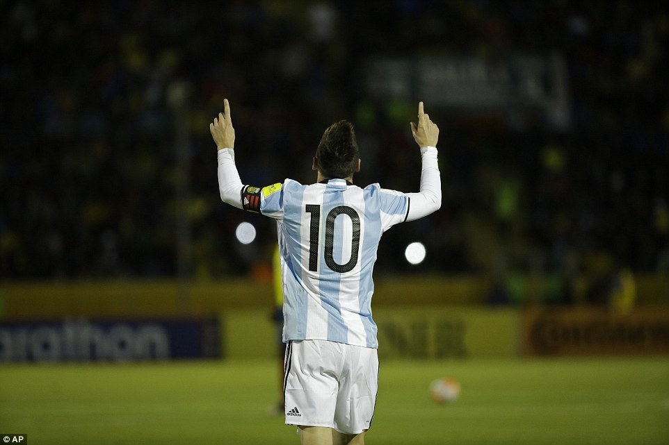 Messi,Argentina,Vòng loại World Cup 2018,World Cup 2018