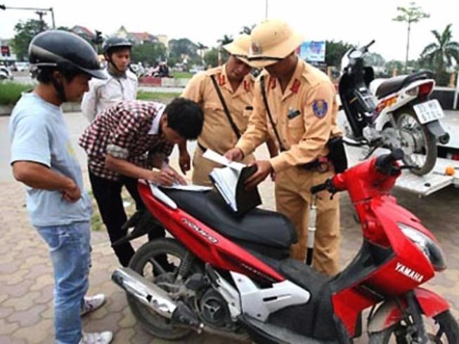 sang tên chính chủ, xử phạt, vi phạm giao thông, csgt, cảnh sát giao thông