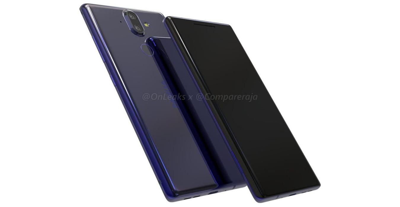 Hình ảnh Nokia 9 mới: Màn hình cong cạnh, bỏ jack tai nghe
