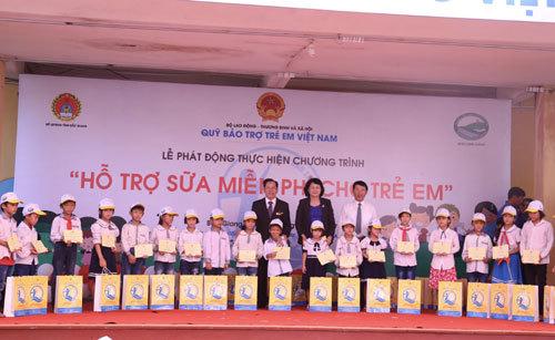Gần 32 tỷ đồng sữa miễn phí dành cho trẻ tiểu học