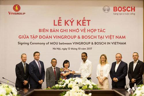 Vingroup và Bosch 'bắt tay' sản xuất ôtô, xe máy điện