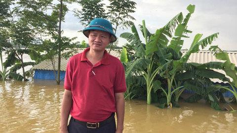 Phó chủ tịch xã nói về đê Bùi 2 bị vỡ
