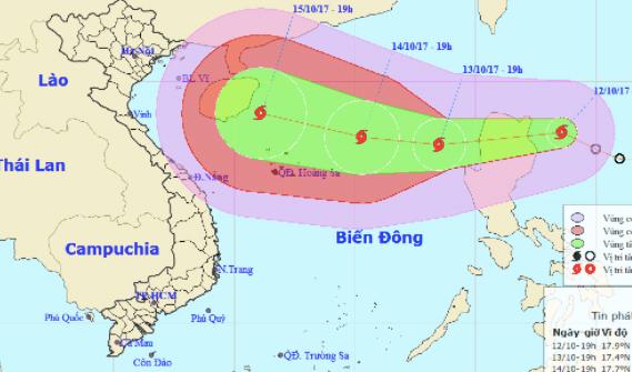 Áp thấp mạnh lên thành bão, có thể đổ bộ Nghệ An – Quảng Trị - ảnh 1