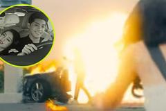 Ô tô cháy phát nổ đúng lúc Noo Phước Thịnh tặng nhẫn cho 'bạn gái'