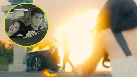 Ô tô của Noo Phước Thịnh phát nổ đúng lúc tặng nhẫn cho 'bạn gái'