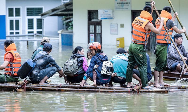 Lũ lụt, lũ ở Hòa Bình, mưa lũ, ngập lụt ở Hòa Bình