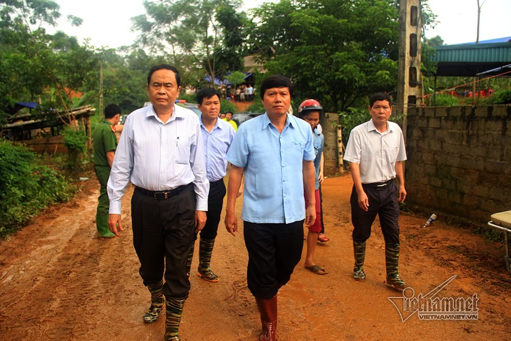 lũ lụt, ngập lụt, mưa lụt, lũ lụt Hòa Bình, ngập lụt ở Hòa Bình, Chủ tịch MTTQ Trần Thanh Mẫn