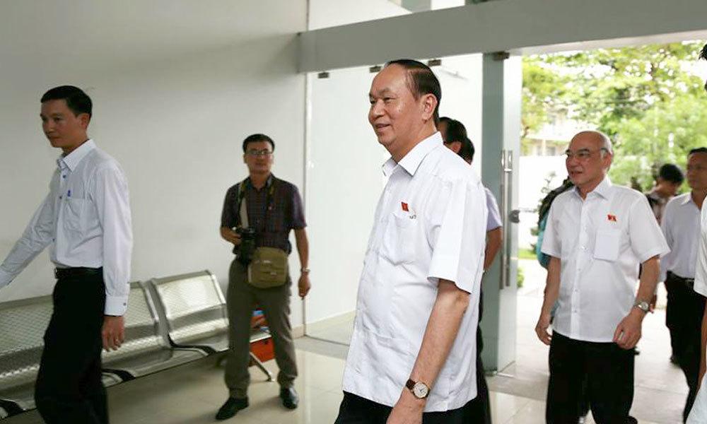 Cử tri TP.HCM vui mừng khi thấy Chủ tịch nước khỏe mạnh
