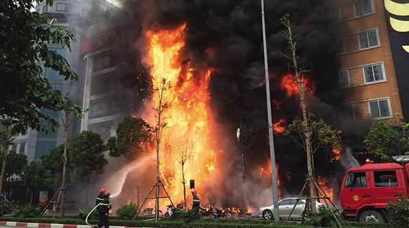 cháy, cháy quán karaoke, cháy quán karaoke đường Trần Thái Tông, hỏa hoạn