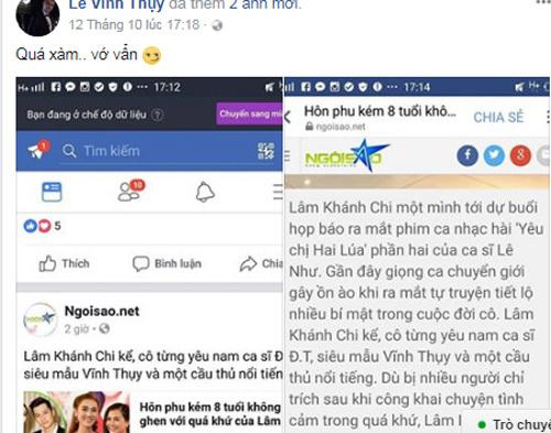 Vĩnh Thụy lên tiếng chuyện Lâm Khánh Chi yêu đơn phương: 'Quá xàm, vớ vẩn'