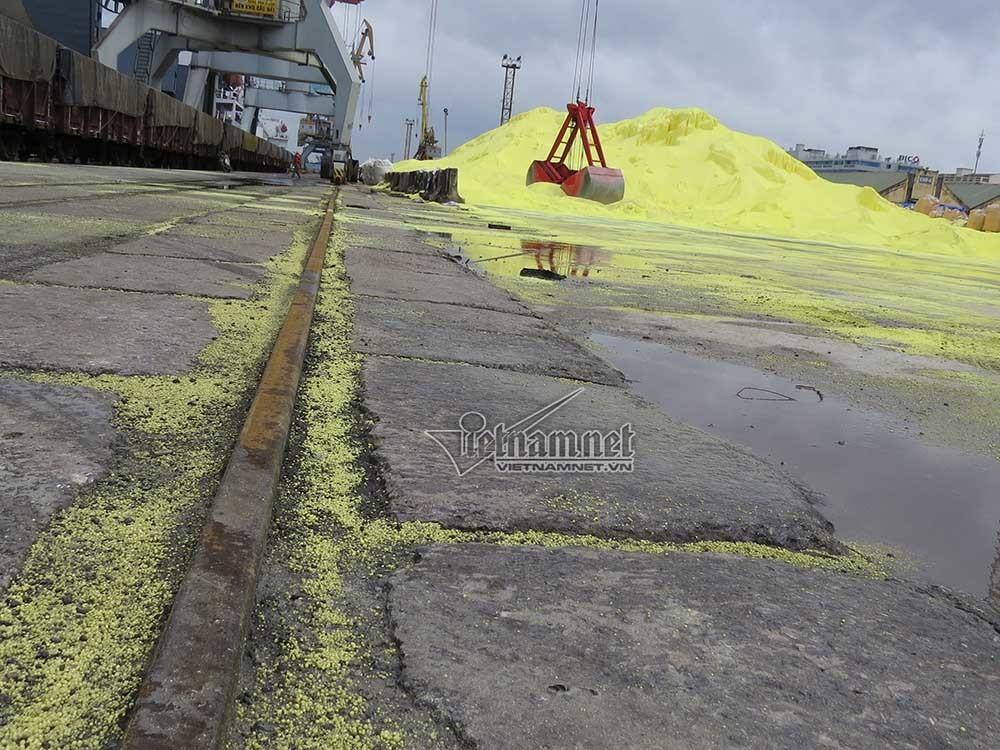 lưu huỳnh, thảm hoạ môi trường, cảng Hải Phòng