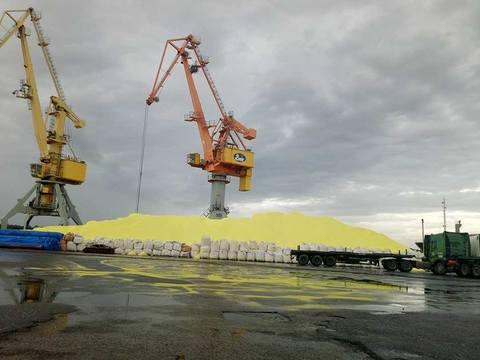 Lưu huỳnh ở cảng Hải Phòng
