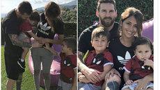 """Vợ yêu """"tặng"""" Messi quý tử thứ 3"""