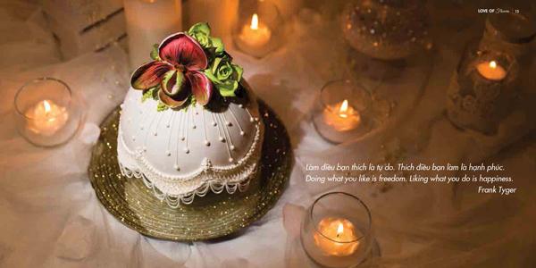 Cuốn sách chứa đầy tác phẩm nghệ thuật từ bánh kem