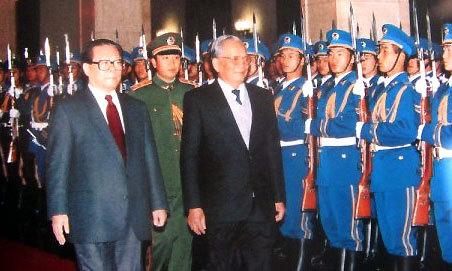 Đại tướng Lê Đức Anh,hồi ký,Trung Quốc,Giang Trạch Dân,Hoàng Sa,Trường Sa