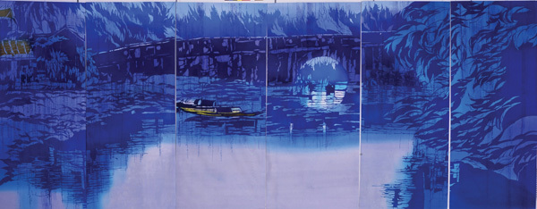 Triển lãm tranh nhuộm độc đáo của hoạ sĩ Nhật