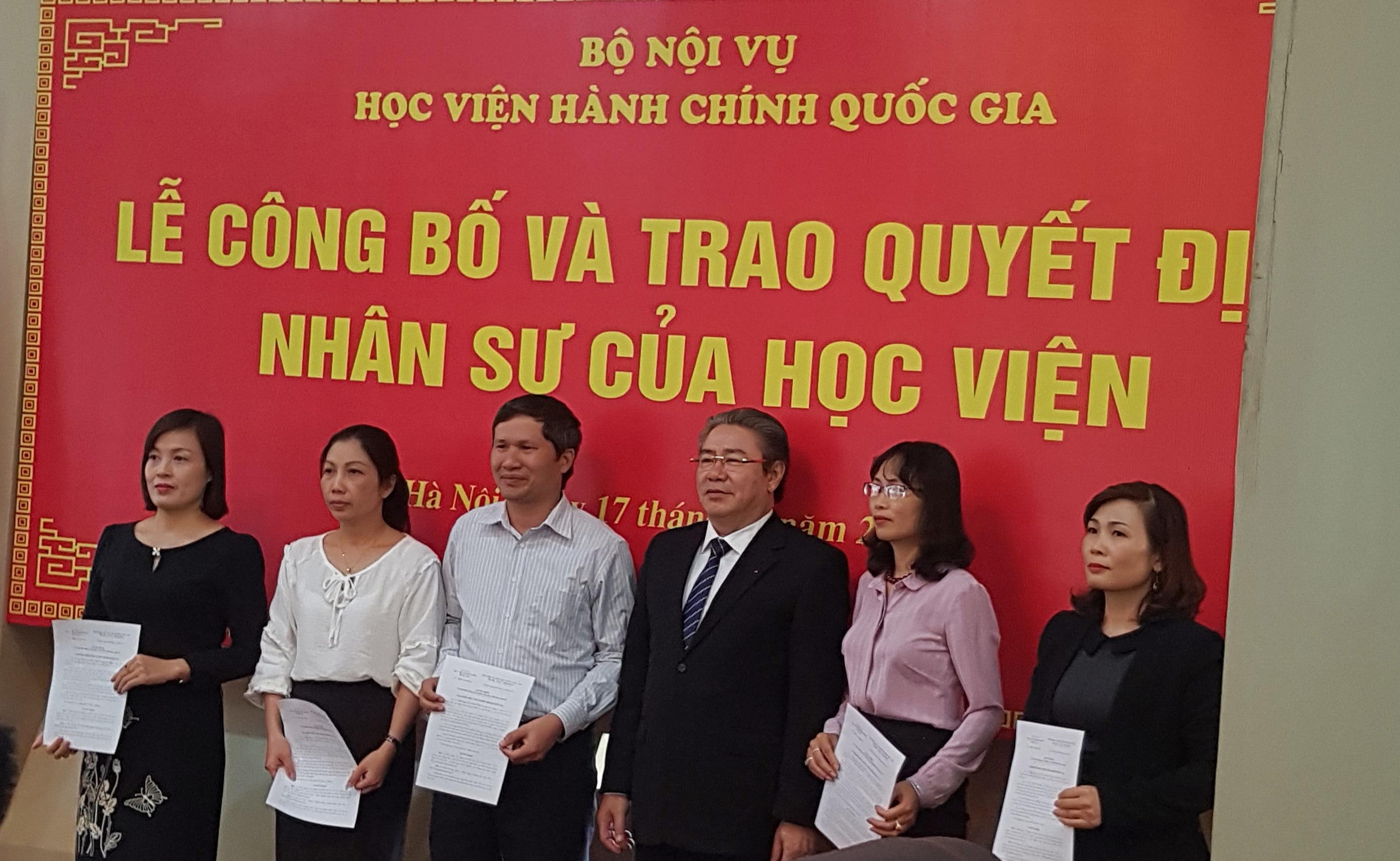 Học viện Hành chính quốc gia tiếp nhận 67 nhân sự mới