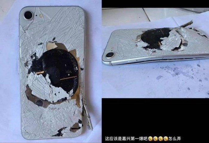 iPhone 8 đầu tiên phát nổ do lỗi của pin