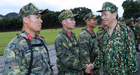 Chủ tịch nước thăm, làm việc với Bộ Quốc phòng
