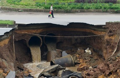 Natural calamities expose under-quality construction works