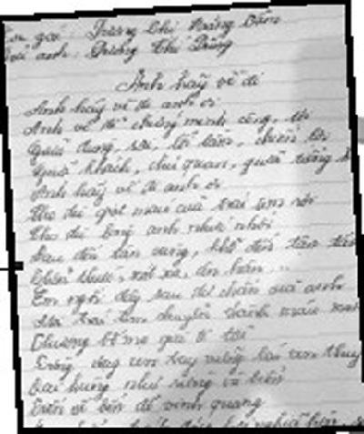 Em gái, Dương Chí Dũng,  bi kịch, gia đình, bài thơ, đầu thú