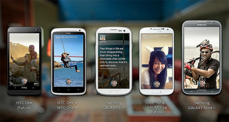 Facebook Home, HTC First, smartphone, Android, Samsung Galaxy S4, HTC One