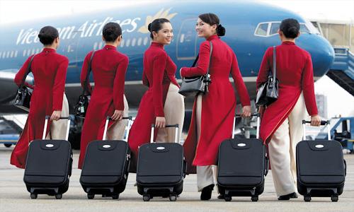 hàng không, tiếp viên, phục vụ, dịch vụ