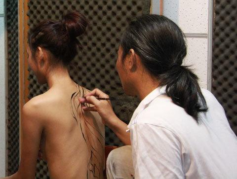 Body painting, khỏa thân, nghệ thuật, nhiếp ảnh, người mẫu,