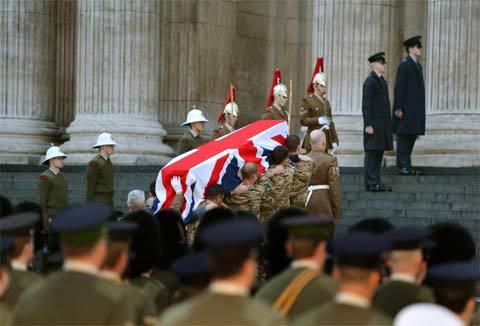 Bà đầm thép, Baroness Thatcher, tang lễ, tổng duyệt