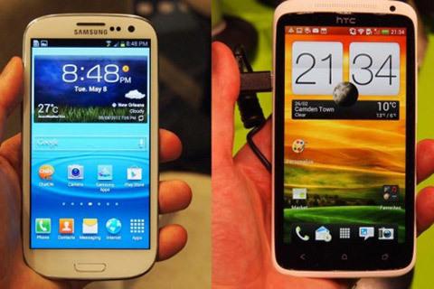 Samsung, HTC, thuê người, ném đá