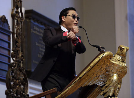 Harvard, Gangnam Style, din thuyt, pht biu, tr chuyn, PSY