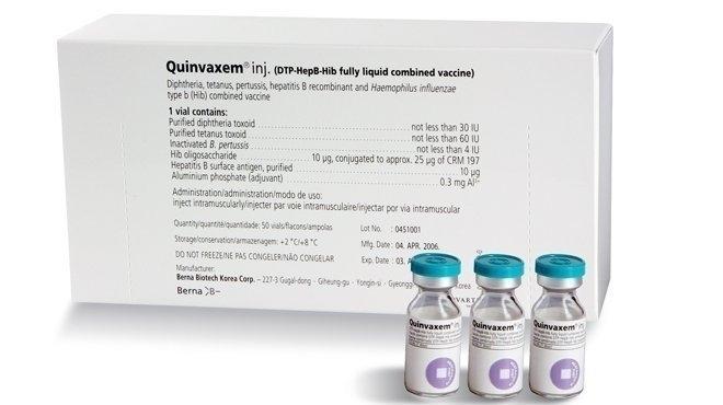 Vắc-xin Quinvaxem sẽ tạm ngừng trong 2 tháng