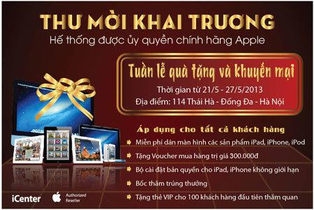 apple, ủy quyền, Hà Nội, đầu tiên