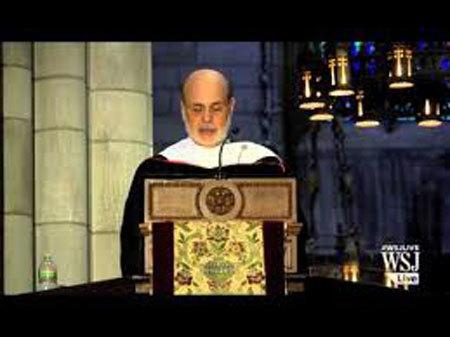Ben S. Bernanke, FED, phát biểu, ĐH Princeton, sinh viên, ý nghĩa