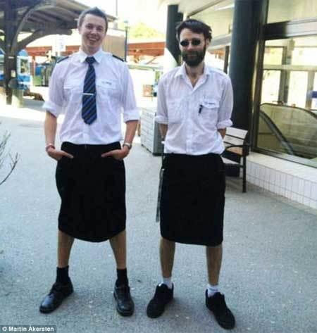 mặc váy, đàn ông, Thụy Điển