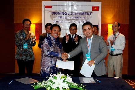 """CMC Telecom """"bắt tay"""" công ty viễn thông quốc tế Telin"""